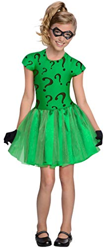 DC Super Villain Collection Riddler Girl's Costume with Tutu Dress, Small