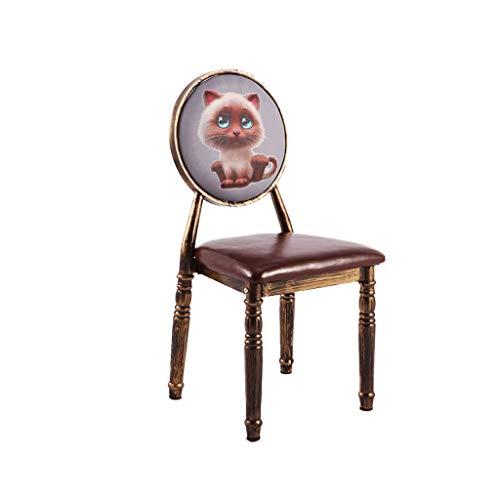 HXF - Silla de comedor envejecida, estilo vintage, para el hogar, estilo creativo, para el hogar, taburete de maquillaje, silla duradera (Estilo: J)