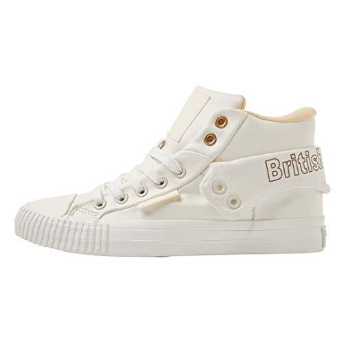 British Knights Damen ROCO SNT Hohe Sneaker, Weiß Gold/White 06, 40 EU