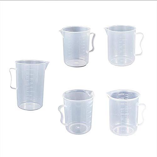Laboratorio 250ml / 500ml / 1000ml / 2000ml de plástico transparente precipitados Mida la copa líquida para hornear la medición del contenedor de Jugcup (Capacity : 500ml)
