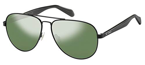 Fossil Men's FOS2061s Aviator Sunglasses, Black, 60 mm