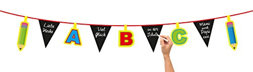 Folat 61342 Children's Party ABC Bunting Garland-4 m, Multi-Colored