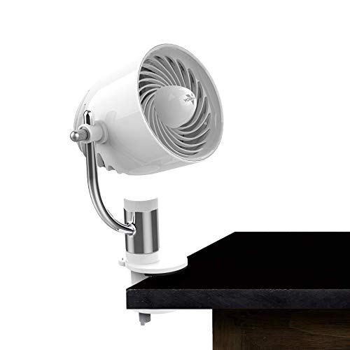 Vornado PivotC Personal Air Circulator Clip On Fan with Multi-Surface Mount, White