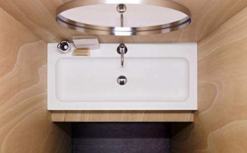 Wastafel met onderkast, oppervlak Luena, afmetingen: 1000 x 450 x 120 cm.