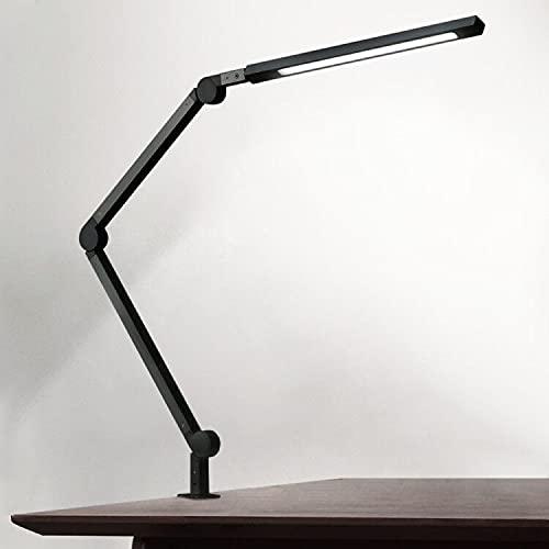 Eyocean - Lámpara de escritorio LED, brazo giratorio, lámpara de arquitectura, lámpara de trabajo, control táctil, lámpara de mesa, regulación sin niveles, temperatura de color ajustable
