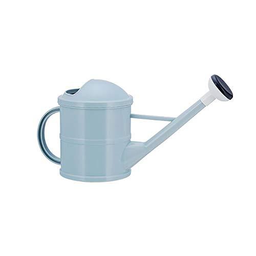 Dracol Regadera de plástico de 1,5 l, con boquilla larga, herramienta de riego para interior y exterior, flores, plantas de interior, herramientas de jardín, color azul
