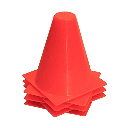 Amber Athletic Gear Cone Agility (Set of 8) - Asiento/Almohadilla para Estadio de fútbol, Color Rojo, Talla 38 cm