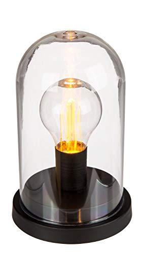 Out of the Blue 57/9492 – Lampe rétro à LED, dôme en plastique sur socle rond en métal, env. 11 x 11,5 cm, hauteur env. 16 cm, fonctionne à piles, livré dans un coffret cadeau