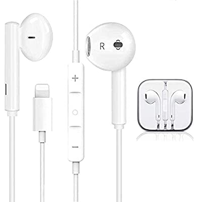 Earphones For iPhone Earbuds in-Ear Wired Headphone Headest with Mic and Volume Control Compatible with iPhone 12/11/11Pro/XS/XS Max/X/XR/8/8 by Aercue