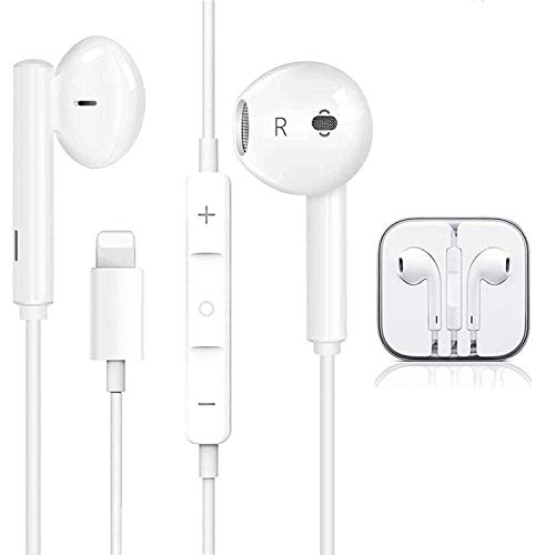 Lighting Earphones For iPhone Earbuds in-Ear Wired Headphone Headest with...