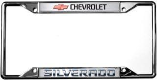 Chevy Silverado Chrome License Plate Frame Caps
