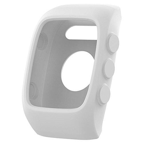 Househome Smart Watch Protect Case - Carcasa universal de silicona suave para Polar M400 M430, color blanco