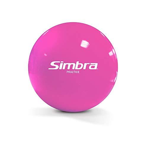 Simbra Official Field Hockey Indoor/Outdoor Practice Balls | Official Field Hockey Balls - Super Smooth Stickhandling & Shooting Training Smart Speed Street Hockey Ball (Pink, 1 Ball)