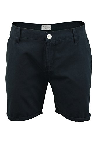 Short Chino 'Smith', coton sergé pour homme de Brave Soul (Smith - Marine) M