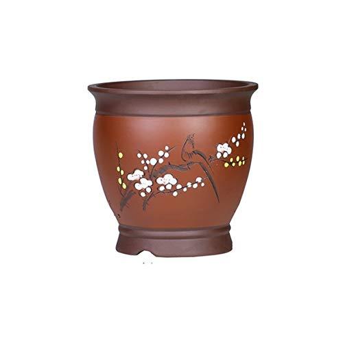 E/A HYCSP hoogwaardige paars zand bloempot, grote maten, ademend/vochtafvoer, binnen/buiten, fijn snijden/schilderen, twee kleuren om uit te kiezen