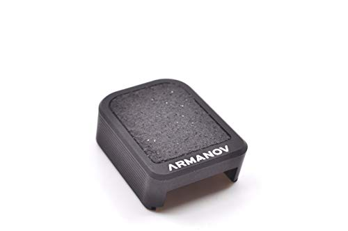 Armanov Magazine Grip Extensions Base Pad Magazine Base for Sig Sauer P226, X5, LDC for IPSC, Magwell Compatible (Black)