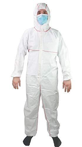 Unisex Overall mit Kapuze von ATC 1 Stück - Schutzausrüstung, Schutzanzug, Schutzkleidung, Einweganzug, Maleranzug, Lackieranzug