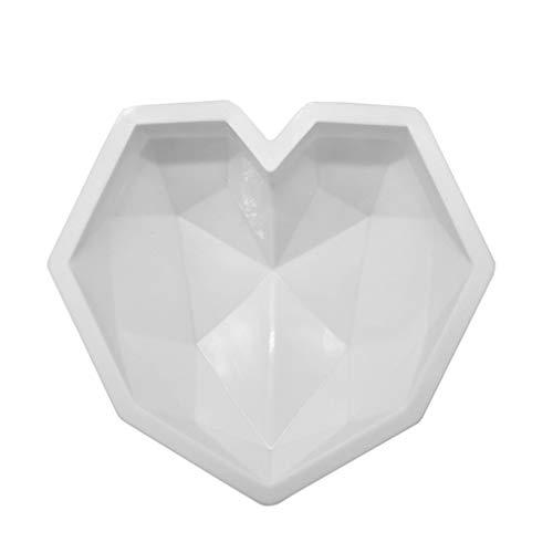 Diamond Heart Love Mousse cakevormbakjes, siliconen bakvorm - Food Grade & BPA Free-Not Sticky Mold Geschikt voor mousse, chocoladebrownie, cheesecake, gelei, ijs, fondant