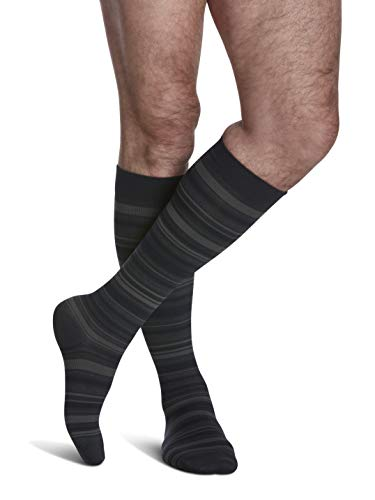 SIGVARIS Men's Microfiber Patterns 183 Calf High Compression Socks 15-20mmHg