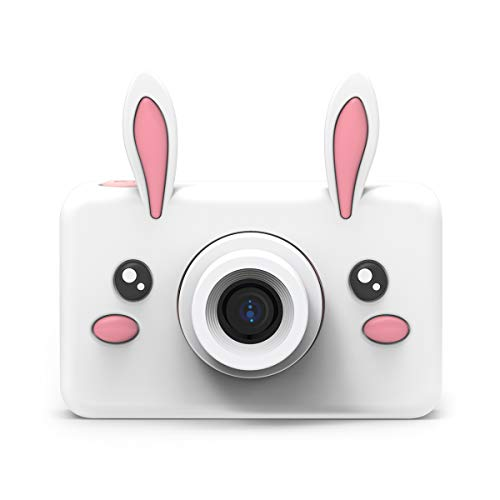 The Zoofamilie 24MP Animal Sofortbildkamera | Tragbare erste Digitale Kinderkamera mit 2.0 IPS Bildschirm und 16 GB MicroSD | Videokamera für Kinder zum Aufnehmen von Videos und Selfies - Hase