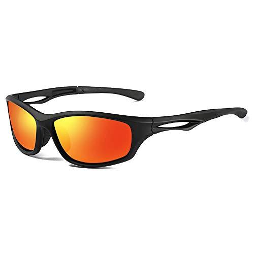 MGWA Gafas de sol deportivas Ciclismo Wild TR90 Material Gafas de sol Tendencia Negro/Azul/Rojo Hombres Y Mujeres Con Las mismas Gafas De Sol (Color: Rojo)