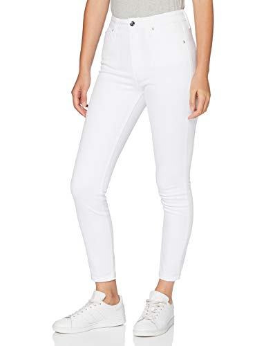 Calvin Klein Jeans Damen Ckj 010 High Rise Skinny Ankle Straight Jeans, Weiß (DA094 White Embroidery 1CD), NI24