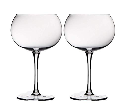 Hand Blown Lead Free Crystal Red Wine Glasses - Set Of 2 Wine Balloon Glass Specifically Designed With Their Elegant Shape To Enhance The Natural Aroma Of Your Wine - By TobyGlobal