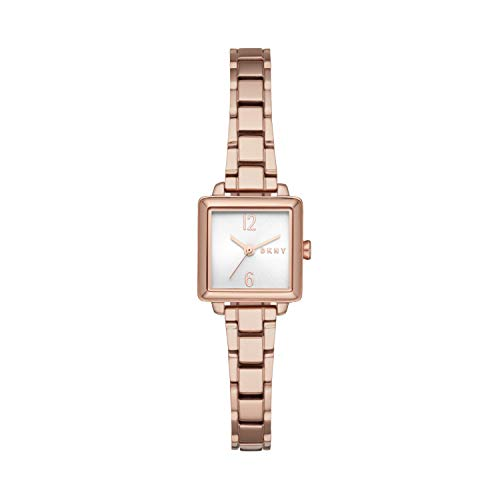 DKNY Women's Quartz Watch with Stainless Steel Strap, Rose Gold, 10 (Model: NY2869)