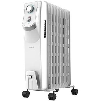 Cecotec Radiador de Aceite Ready Warm 5800 Space 360º. 9 Módulos, Bajo Consumo, Termostato Regulable, 3 Niveles de Potencia, Sistema Antivuelco, Fácil Transporte, 2000 W
