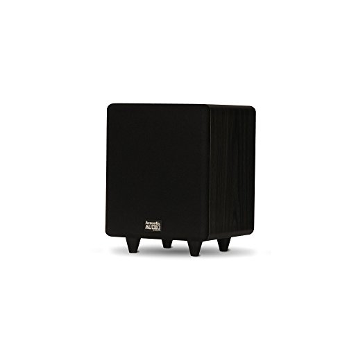 Acoustic Audio PSW250-6 Home Theater Powered 6.5' LFE Subwoofer Black Front Firing Sub