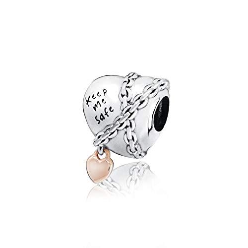 Auténtica Pandora 925 Cuentas De Plata Esterlina Diy Encantos De Corazón Encadenados A La Moda Charm Fit Pulseras Originales Joyería De Mujer