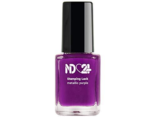 Stamping Nagellack Lack Metallic Purple - Lila - Hochpigmentiert - Made in Germany - 12ml