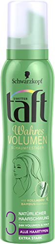 Schwarzkopf 3 Wetter Taft Schaumfestiger, Volumen Normales Haar Extra Starker Halt 3, 6er Pack (6 x 150 ml)