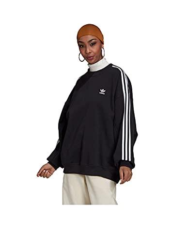 adidas OS Suéter de 3 rayas para mujer Negro 34 EU