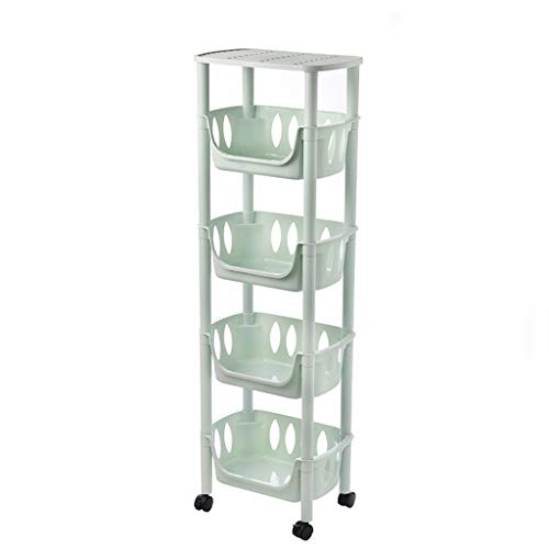 New HXF- Fruit Vegetable Storage Rack Kitchen Storage Floor Multi-layer Plastic Household Fruit And ...
