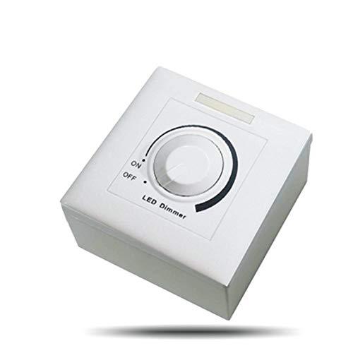 Persdico DC 0-10V Interruptor de atenuación Led Controlador Ajustable atenuador de Controlador Led para luz Regulable Foco empotrable Bombilla Led