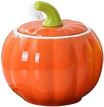 Pumpkin Shape Creative Ceramic Spice Jar Single Spice Jar Home Cooking Jar Kitchen Utensils Spice Jar Chili Oil Jar Salt Mixer