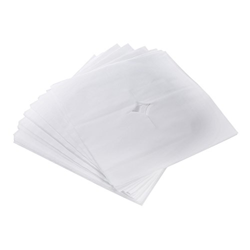 Anself 100pcs Headrest Cover Disposable Massage Sheet Breathing Hole for Spa Pillow Bed Table Salon Tools