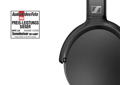 Sennheiser HD 450BT - Auricular Wireless, con Cancelación de Ruido Activa, Circumaural, Negro