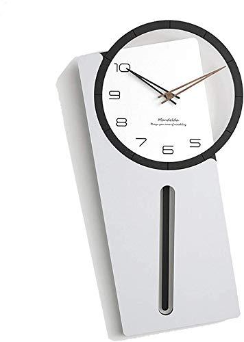MXL Reloj de Pared Reloj de Pared silencioso Moderno Decorativo para el hogar, Cocina, Sala de Estar, Oficina, C