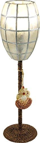 Guru-Shop Tafellamp Kokopelli Prinses H1209, Wit, Metaal, 48x13x13 cm, Kleurrijke en Exotische Tafellampen