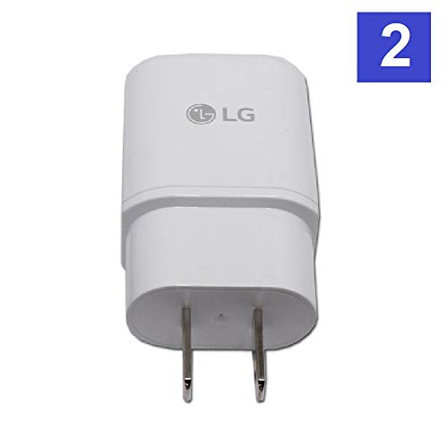 Original LG QuickCharge 3.0 Wall Charging Fast Adapter for G5 G6 NEXUS 5X 6P V10 V20 V30 - 2 PACK - Bulk Packaging