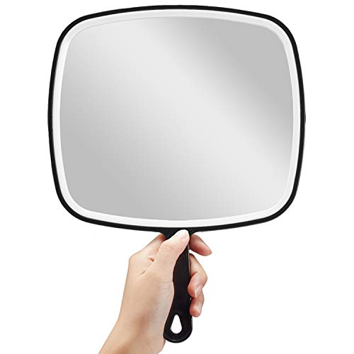 OMIRO Hand Mirror, Extra Large Black Handheld Mirror with Handle, 9