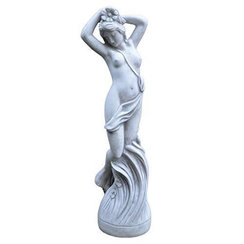 gartendekoparadies.de Massive Statue Steinfigur Venus Frau auf Sockel aus Steinguss frostfest