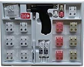 Universal ear piercing kit with 24 pairs April bezel diamond earrings studs 3 sizes hypoallergenic instrument gun