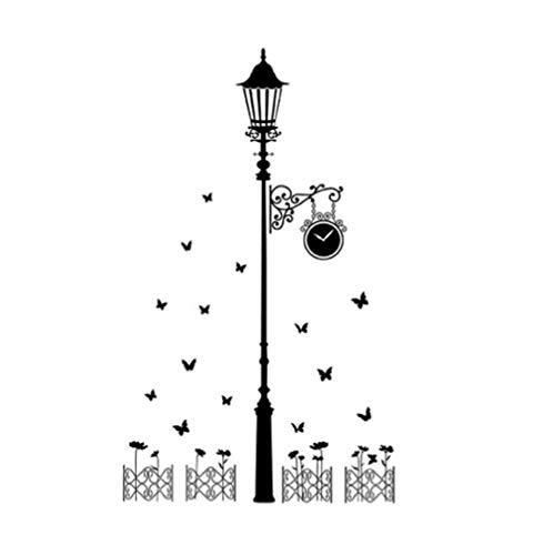 Lámpara De Calle Mariposa Pegatinas De Pared Sala De Estar Dormitorio Sofá Fondo Decoración Del Hogar Vinilo Mural Arte Calcomanías Wallpaper110cm * 185cm
