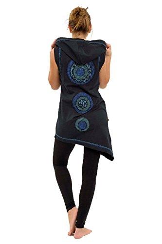100/% Coton FANTAZIA Jupe Longue Ethnique Original Blue Squares Patanjali Asiatique Mao Cr/é/é en France Fabrication Ethique Depuis 2004 Taille S au XXXL Confortable /& Original Noir
