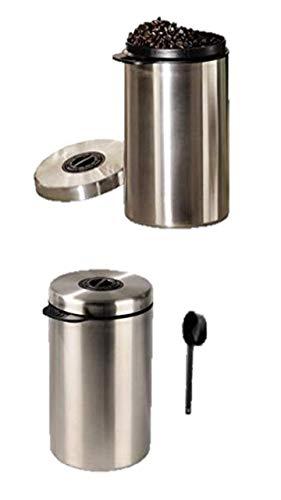 James Premium Kaffeedose Luftdicht Teedose,Kaffee Aufbewahrung Kaffeebehälter Aromadicht NEU mit CO2-Freigabeventil und Messlöffel