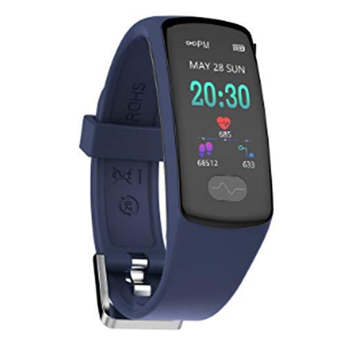 Wsaman Pantalla Táctil Smartwatch Pulsera de Actividad Inteligente Fitness Tracker 0.96 Inch Reloj Inteligente IP68, con Sueño Monitor de Actividad Podómetro para Android/iOS/Hombre/Mujer,Azul