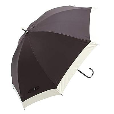 日傘 完全遮光 軽量 レディース 長傘 uvカット 晴雨兼用 モノトーン ブランド おしゃれ assa(FL202/ブラック)